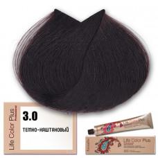 Краска для волос Life Color Plus. Темно-каштановый