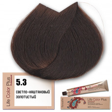 Краска для волос Life Color Plus. Светло-каштановый золотистый