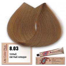 Краска для волос Life Color Plus 8.03, Farmavita