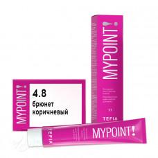 Крем-краска для волос MYPOINT Color 4.8, Tefia MY