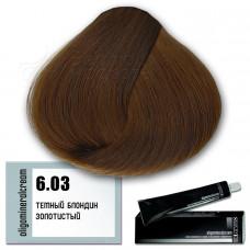 Краска для волос Oligomineral Cream. Золотистый темный блондин