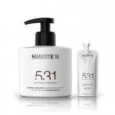 Оттеночный шампунь-маска для волос 531 Selective - коричневый