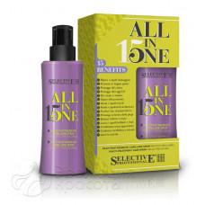 Маска-спрей для волос  питательная многофункциональная All in One, Selective