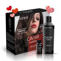 """Набор """"Восстановление волос с экстрактами красной и черной икры"""" Caviar Sublime, Selective"""