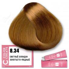 Краска для волос Color Creats 8.34, Tefia