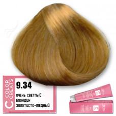 Краска для волос Color Creats 9.34, Tefia