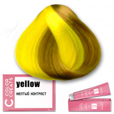 Краска для волос Color Creats - желтый контраст, Tefia
